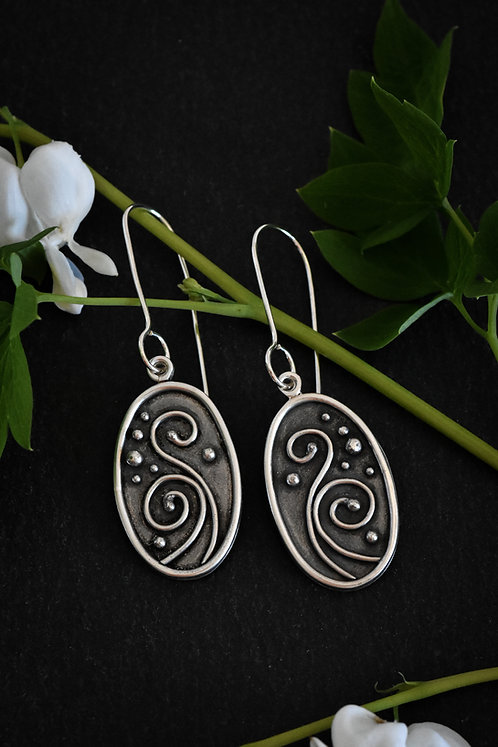 Oval Vine Earrings