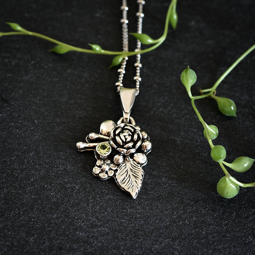 Wildflower Peridot Pendant