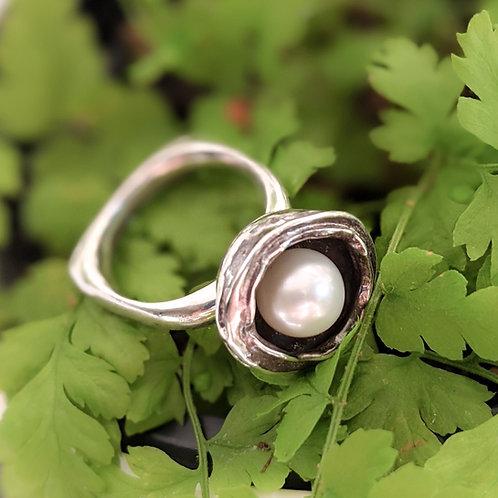 Rain Drop Pearl Statement Ring