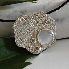 Nasturtium Leaf Pendant