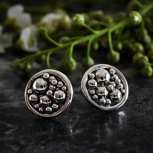 Small Pomegranate Stud Earrings