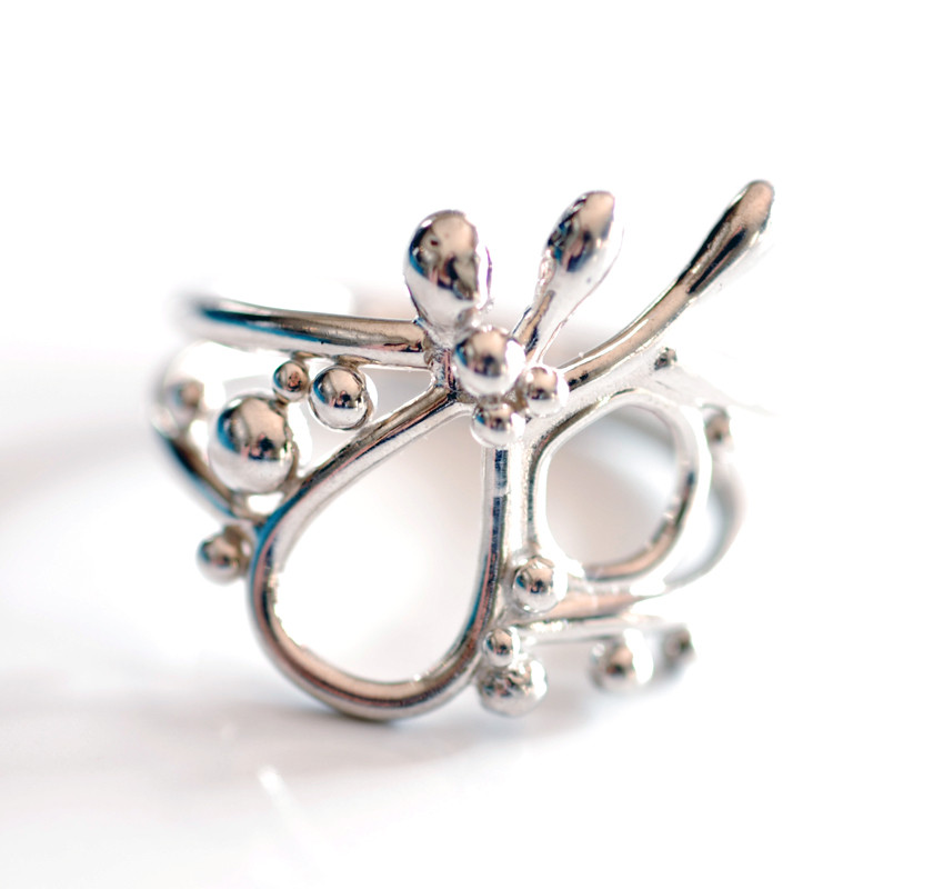 Abstract Ring in Argentium