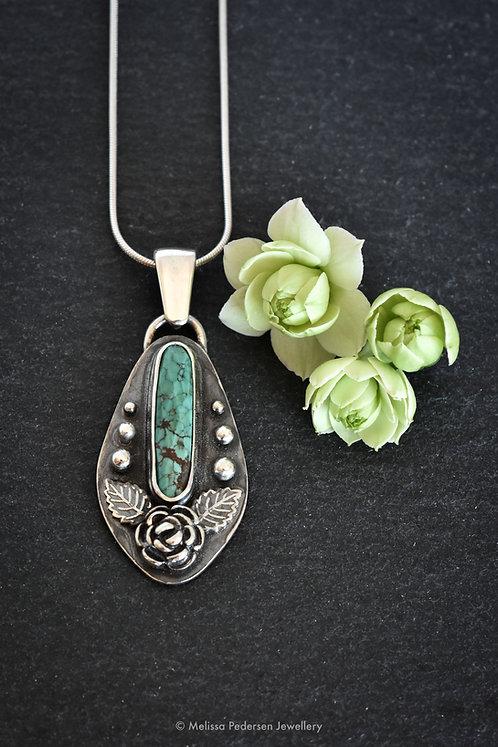Desert Rose (Isaiah 35:1) Turquoise Pendant