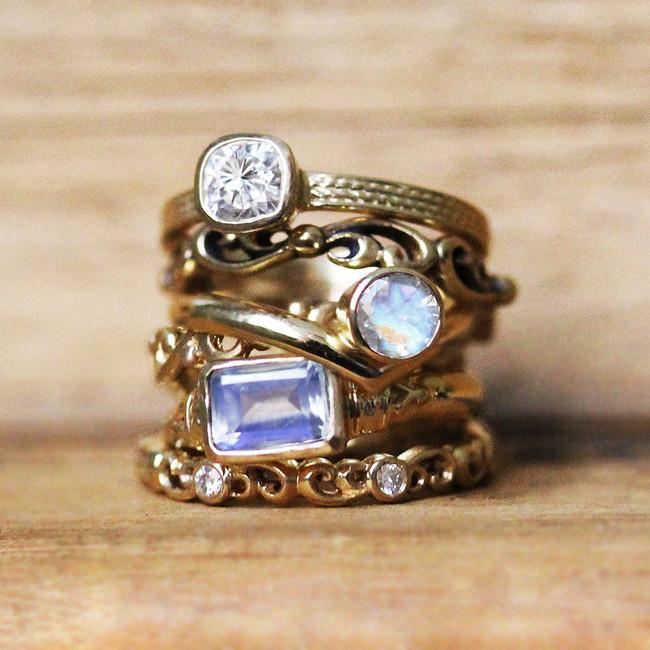 gold gemstone engagement rings