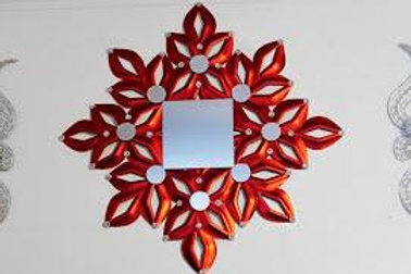 Red Plate Wall Mirror Download #1006