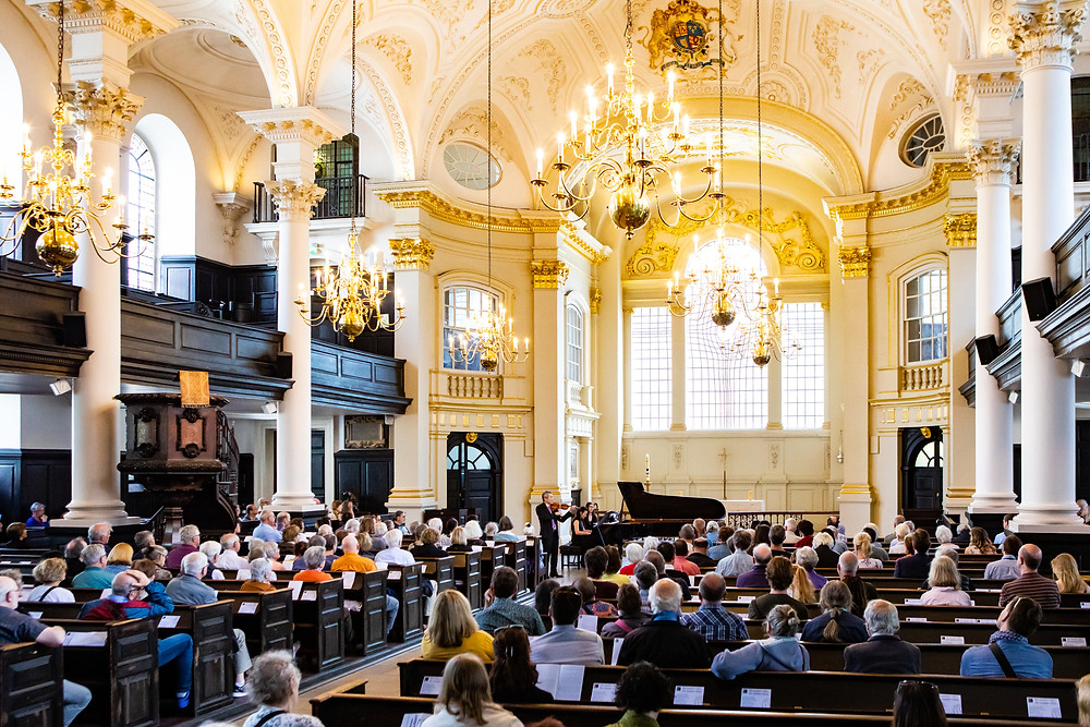 Violinist Dr. Simon Shiao and Pionist Dr. Lucy Chen's concert at St Martin in-the-Fields