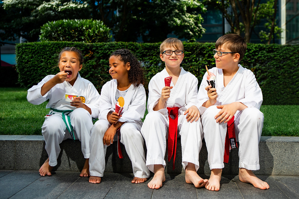 Kids enjoying gelato (Gelati London) at Spitalfields Markets