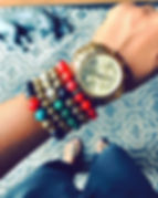Bracelets I wore last Sunday while vendi