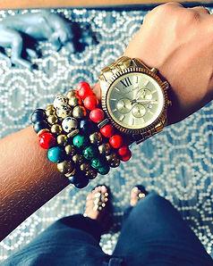 Bracelets I wore last Sunday while vendi
