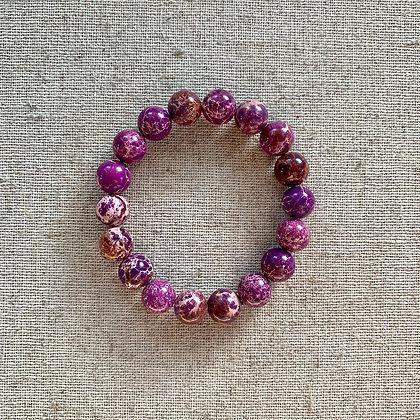 Purple Imperial Jasper Bracelet