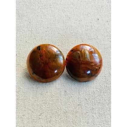 Marbled Topaz Stud Earrings
