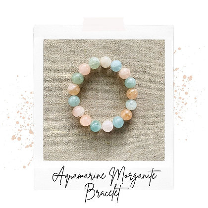 Aquamarine Morganite Bracelet