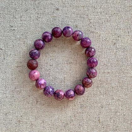 Purple Lace Agate Bracelet