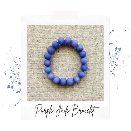 Purple Jade Bracelet