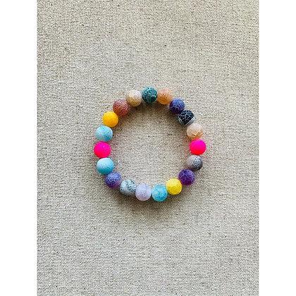 Colorful Agate Bracelet