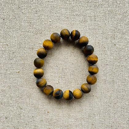 Matte Tiger Eye Bracelet