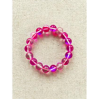 Pink Aura Quartz Bracelet