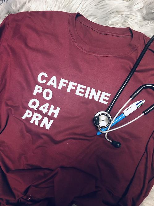 Caffeine PO Q4H PRN Tee