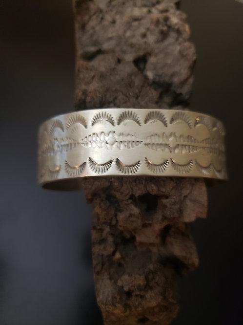 Handstamped Sterling Silver Bracelet