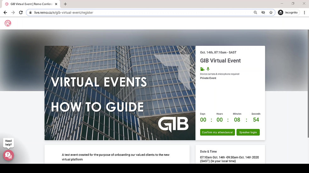 Registered to attend a GIB Virtual Event? In this video we introduce you to the platform and give you tips on how to maximise your experience. Brought to you by GIB.