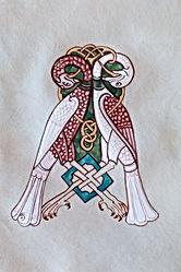 Initiale A d'après le psautier de Corbie IX siècle