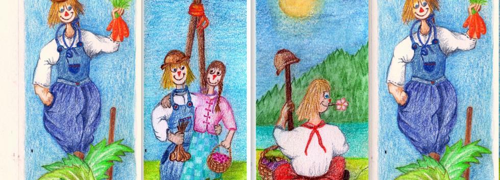 Marque page carnet de jardin