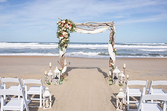 Beautiful beach weddng arch on the beach at cabo rojo puerto rico
