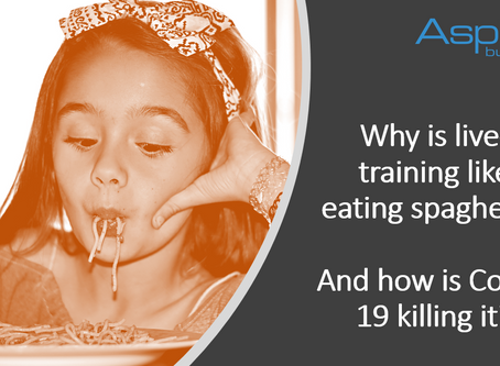 Why is Live Training like Eating Spaghetti? And How is COVID-19 Killing it?
