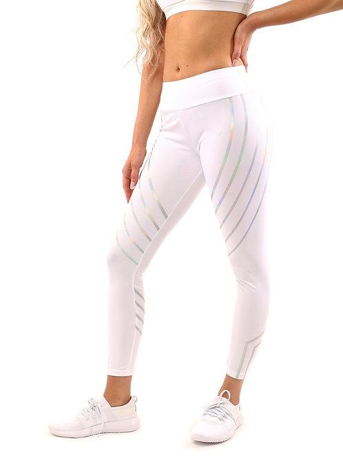 Striped Leggings - White