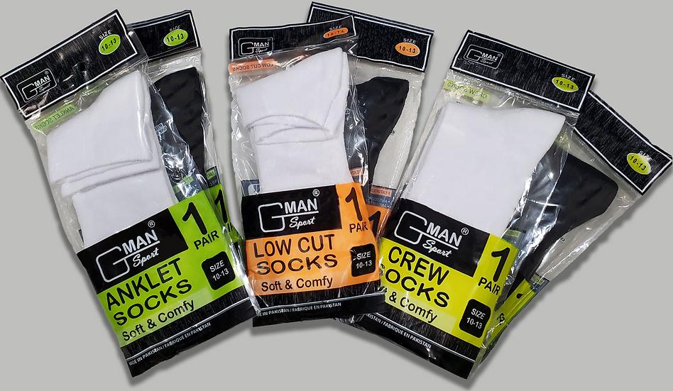 Men's Socks - 12/Pack