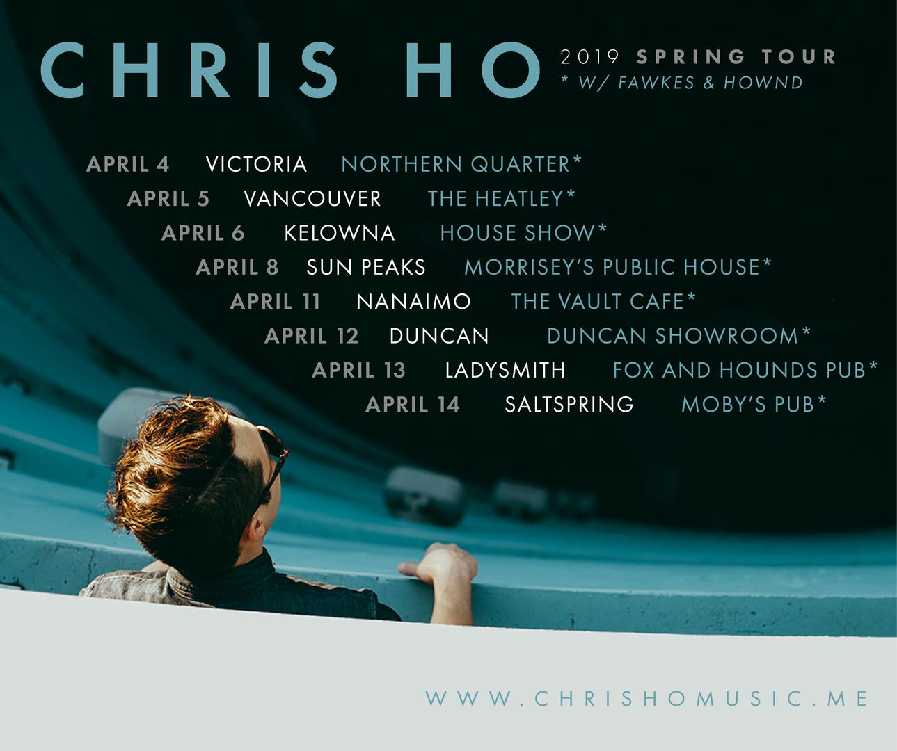 Chris Ho - April 2019 Tour