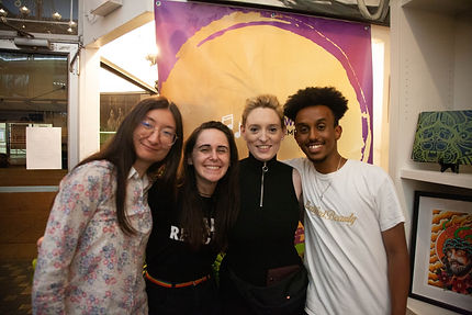 The team working with Olivia Wachter Management - Anna (Far left), Yasmin, Olivia, and Mikky