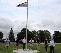 Elgin County Flag Raising with Sally, Karen, Dave,  Martin