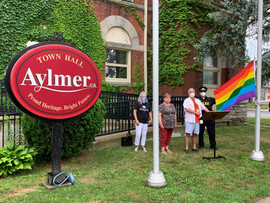 Aylmer Flag Raising