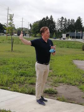 Elgin County Flag Raising - Jeff Yurek