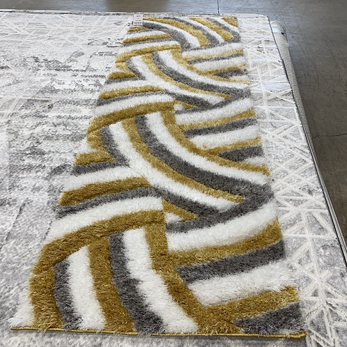 4D Shaggy Yellow 2' x 8' Runner