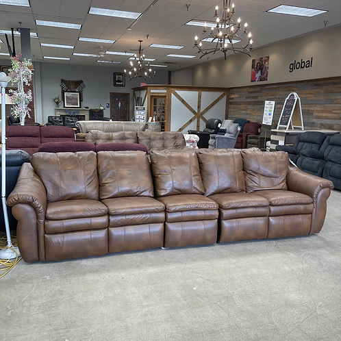 3 Piece Brown Leather Couch