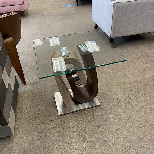 Global Furniture End Table Walnut/Oak