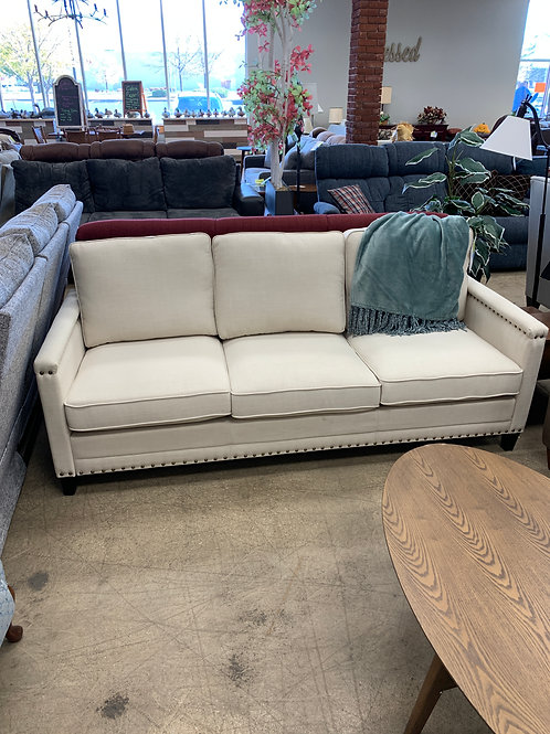 Cream Nail Head Sofa