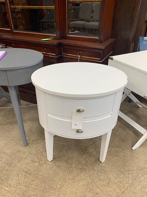 WayFair White Round Side Table