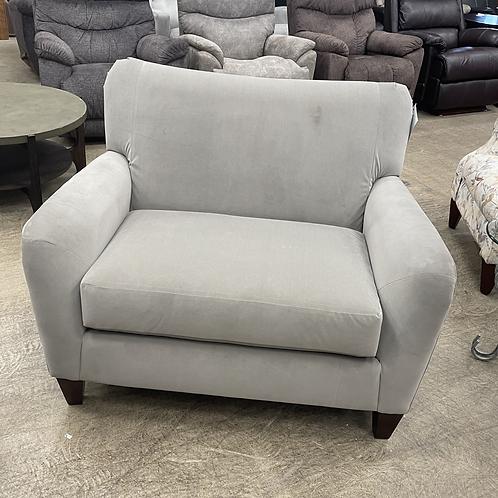 Grey Fabric Oversized Chair