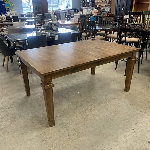 Wooden Dining Table w/ Pull Out Leaf