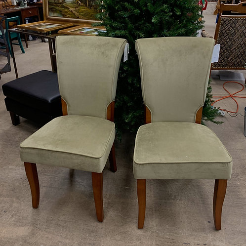 Sage Velvet Dining Chairs (sold separately)