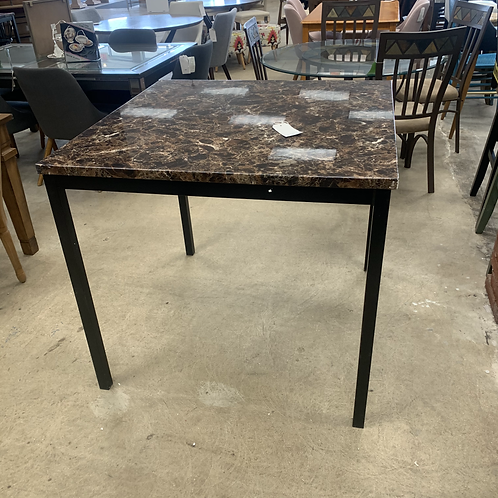 Faux Marble Counter Height Table