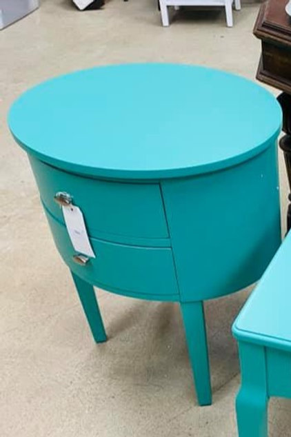 Wayfair Teal Oval Side Table