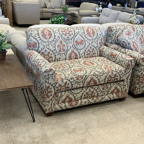Patterned Fabric Oversize Chair