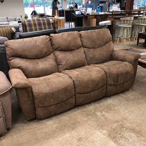 Brown Suede Manual Couch