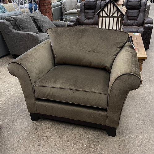 Brown Fabric Oversized Chair