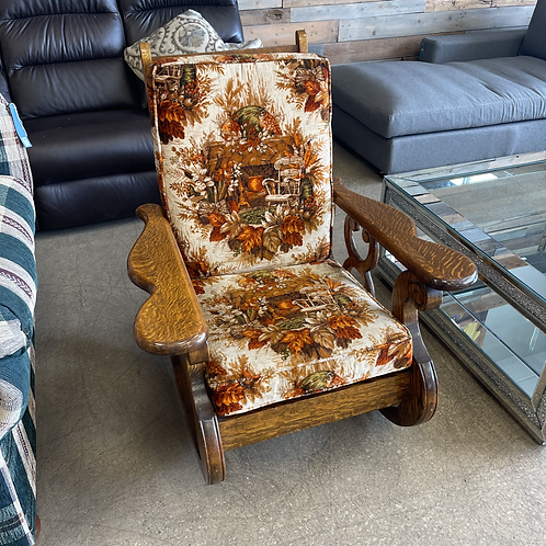 Vintage Patterned Rocking Chair