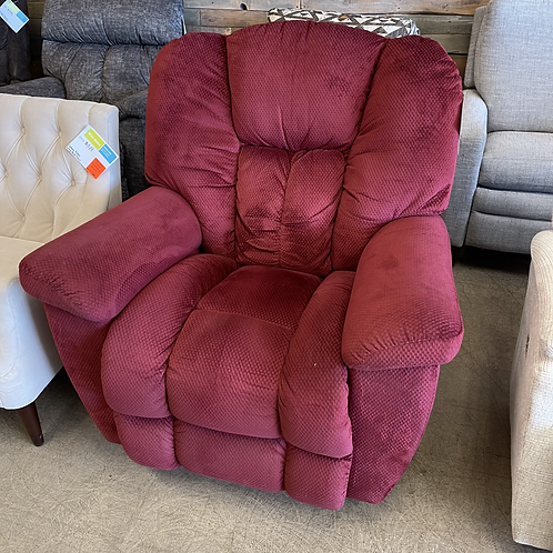 Red Fabric Manual Recliner